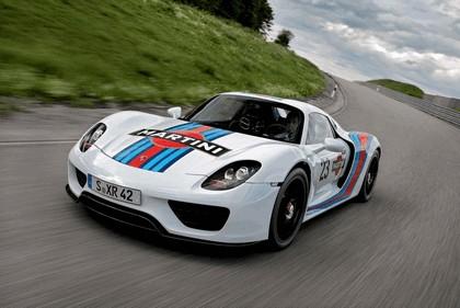 2012 Porsche 918 Spyder prototype in Martini Racing design 6