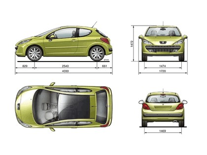2006 Peugeot 207 3-door with panoramic sunroof 32