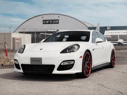2012 Porsche Panamera GTS Crimson Crusader PUR Wheels by SR Auto Group 1