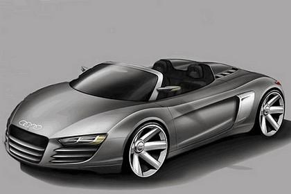 2007 Audi R8 spider sketches 1
