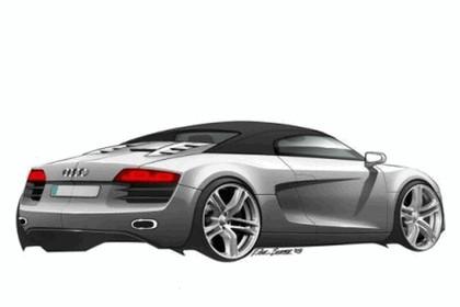2007 Audi R8 spider sketches 2
