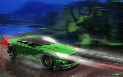 2010 Nissan GT-R ( R35 ) 1200R by Hulk Tuning 9
