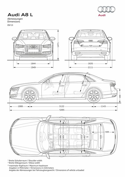 2013 Audi A8 ( D4 ) L W12 quattro - USA version 15