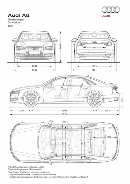 2013 Audi A8 ( D4 ) TFSI quattro - USA version 12