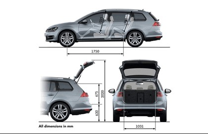 2013 Volkswagen Golf ( VII ) Estate - UK version 38