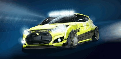 2013 Hyundai Veloster Turbo Yellowcake night racer by EGR 1