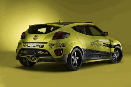 2013 Hyundai Veloster Turbo Yellowcake night racer by EGR 3