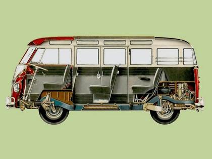 1951 Volkswagen T1 Deluxe Samba Bus 12