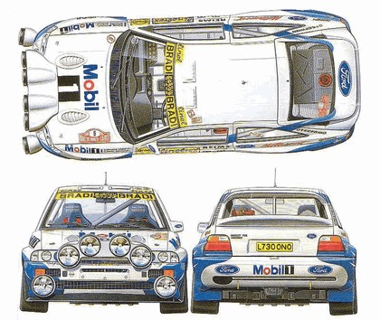 1992 Ford Escort RS Cosworth rally 39