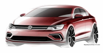 2014 Volkswagen New Midsize coupé concept car 13