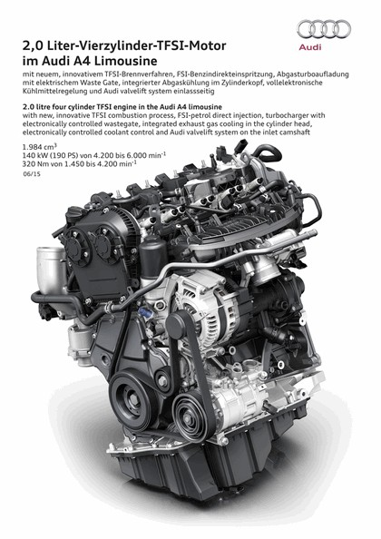 2015 Audi A4 2.0 TFSI quattro 124