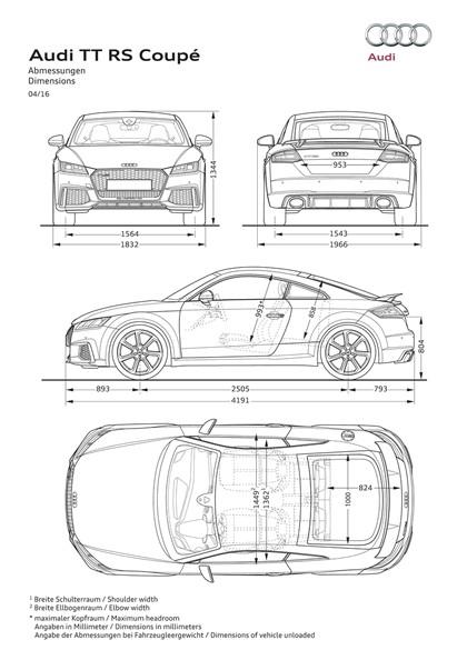 2016 Audi TT RS coupé 44