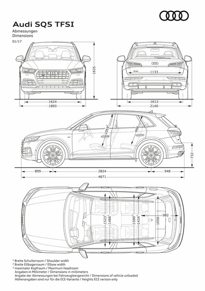 2017 Audi SQ5 3.0 TFSI 12