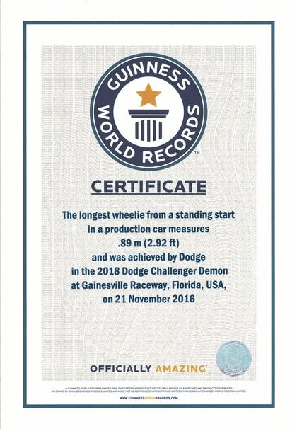 2017 Dodge Challenger SRT Demon 145