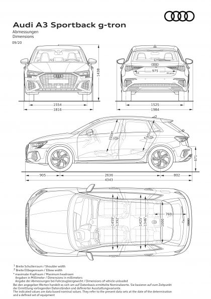 2021 Audi A3 Sportback 30 g-tron 27