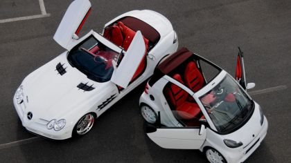 2008 Mercedes-Benz SLR Roadster by Brabus Vs Smart Ultimate 112 by Brabus 2