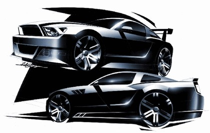 2010 Ford Mustang Shelby GT500 - sketches 1