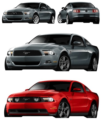 2010 Ford Mustang Shelby GT500 - sketches 10