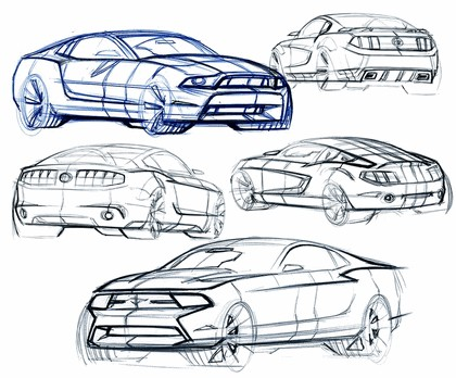 2010 Ford Mustang Shelby GT500 - sketches 11