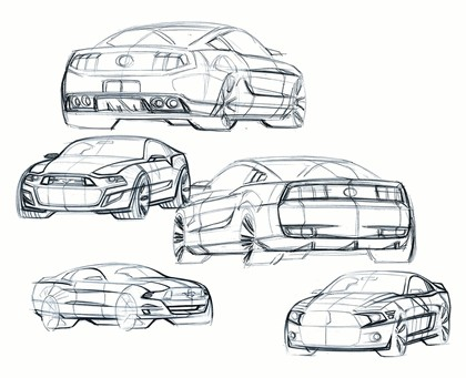 2010 Ford Mustang Shelby GT500 - sketches 12