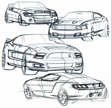 2010 Ford Mustang Shelby GT500 - sketches 13