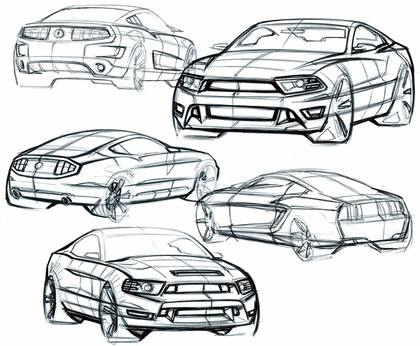 2010 Ford Mustang Shelby GT500 - sketches 14