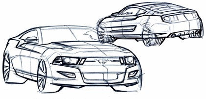 2010 Ford Mustang Shelby GT500 - sketches 16