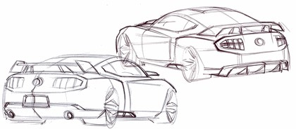 2010 Ford Mustang Shelby GT500 - sketches 19
