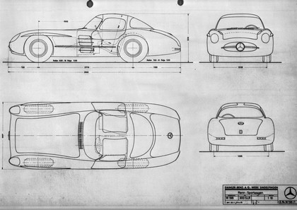 1955 Mercedes-Benz 300 SLR coupé racing prototype ( W196 ) 6
