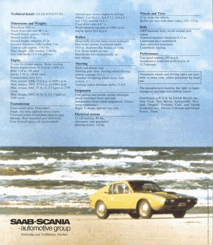 1974 Saab Sonett III 30