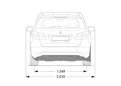 2011 Mercedes-Benz B-klasse 186