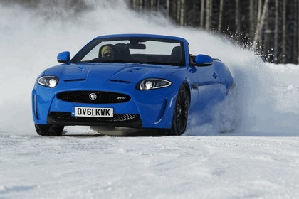 2012 Jaguar XKR-S Convertible on Ice Drives in Finland 2