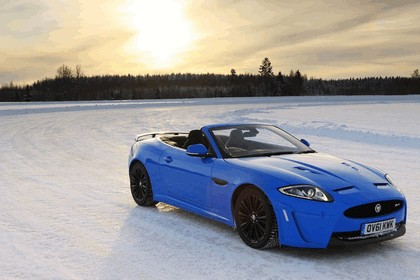 2012 Jaguar XKR-S Convertible on Ice Drives in Finland 4