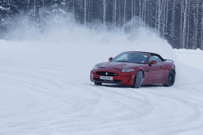 2012 Jaguar XKR-S Convertible on Ice Drives in Finland 9