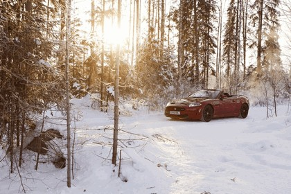 2012 Jaguar XKR-S Convertible on Ice Drives in Finland 10