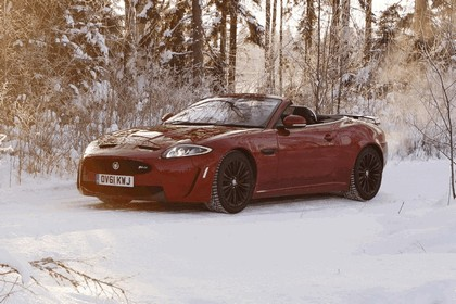 2012 Jaguar XKR-S Convertible on Ice Drives in Finland 11
