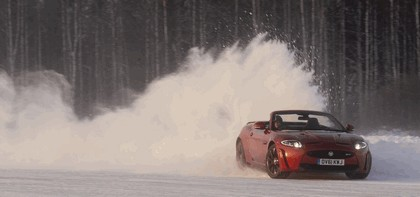 2012 Jaguar XKR-S Convertible on Ice Drives in Finland 13