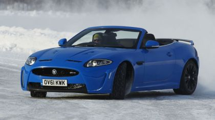 2012 Jaguar XKR-S Convertible on Ice Drives in Finland 7