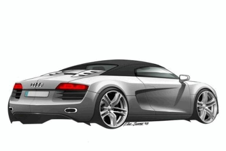 2007 Audi R8 spider sketches 217313