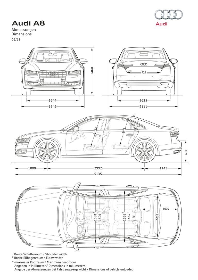 2013 Audi A8 ( D4 ) TFSI quattro - USA version 394970