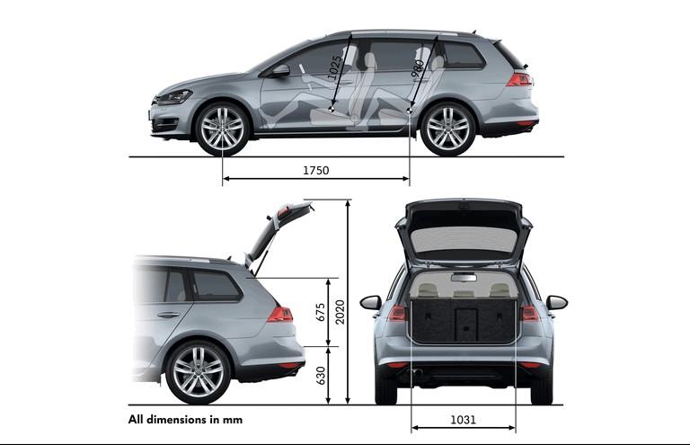 2013 Volkswagen Golf ( VII ) Estate - UK version 399312
