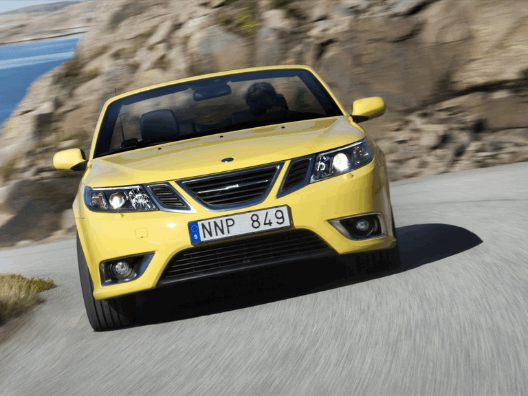 2008 Saab 9-3 convertible yellow edition 242301