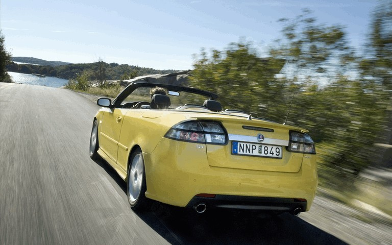 2008 Saab 9-3 convertible yellow edition 242310