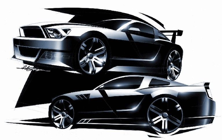 2010 Ford Mustang Shelby GT500 - sketches 248862