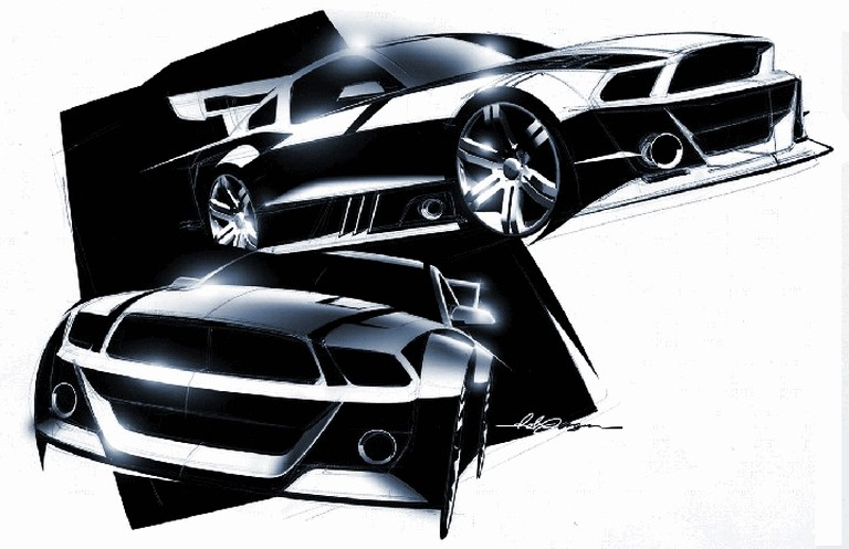 2010 Ford Mustang Shelby GT500 - sketches 248863