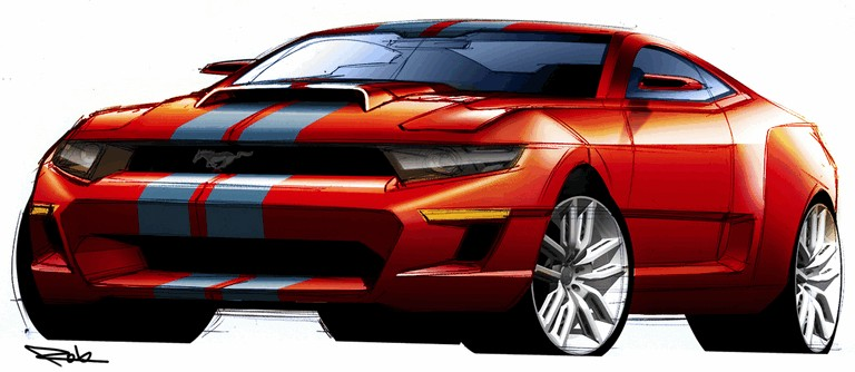 2010 Ford Mustang Shelby GT500 - sketches 248865