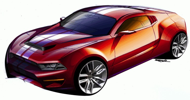 2010 Ford Mustang Shelby GT500 - sketches 248867