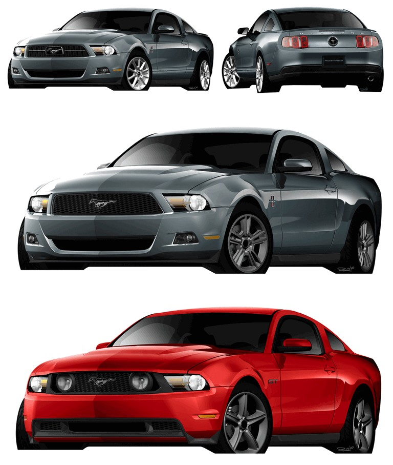 2010 Ford Mustang Shelby GT500 - sketches 248871