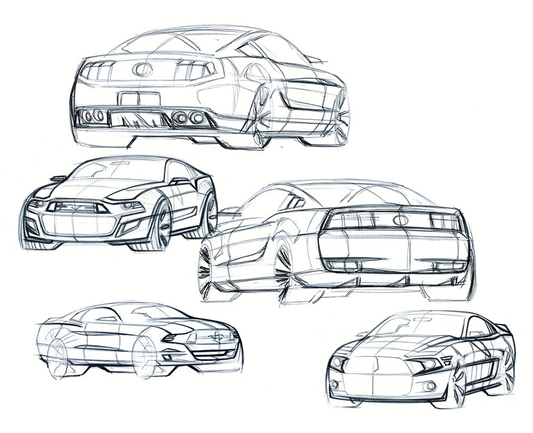 2010 Ford Mustang Shelby GT500 - sketches 248873
