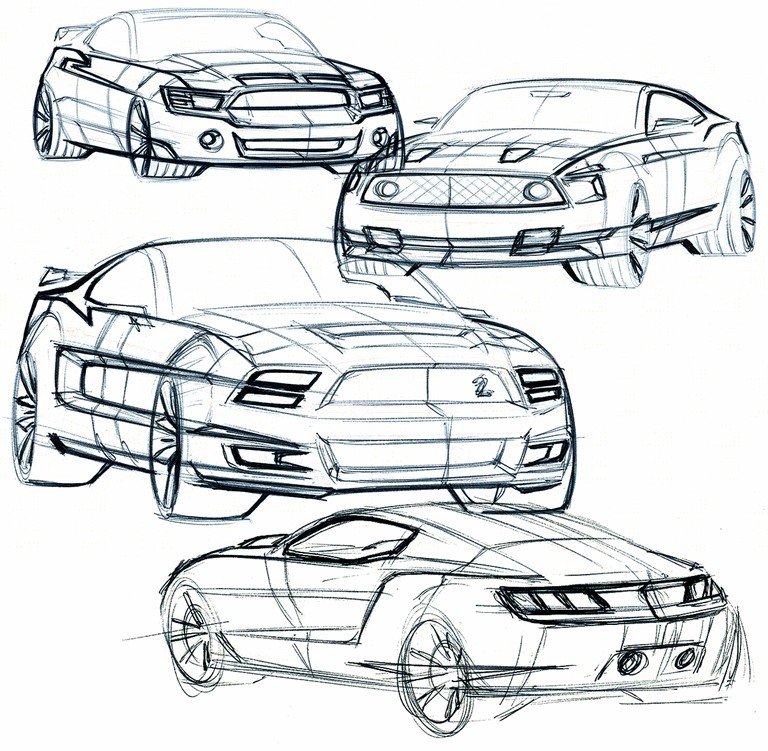 2010 Ford Mustang Shelby GT500 - sketches 248874